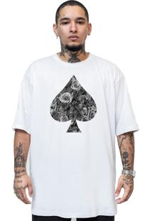 Camiseta Manga Curta Skull Clothing Poker Branco