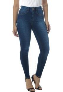 Calça Jeans Cigarrete Linda Z Lipo Z 206621351 Azul 34 - Feminino