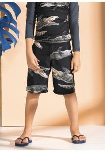 Bermuda Infantil Menino Estampada Em Tecido Tactel De Poliéster Puc [] []