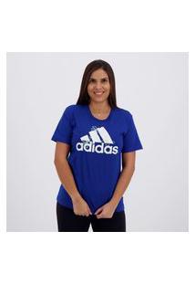Camiseta Adidas Flower Feminina Azul
