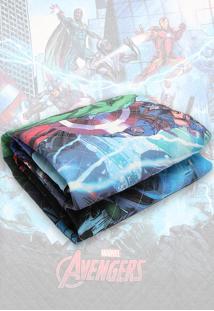 Colcha Solteiro Matelassê Lepper Avengers Azul