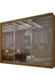 Guarda-Roupa Ravena Top Reflecta Com Espelho - 3 Portas - 100% Mdf - Imbuia