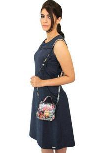 Vestido Pau A Pique Curto - Feminino-Azul