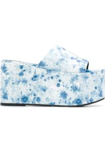 Simon Miller Sandália Plataforma Tie-Dye - Azul