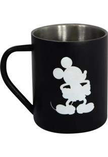 Caneca De Aço Mickey Mouse Geek10 - Preto