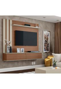 Painel Para Tv Até 46 Polegadas Trend Canelato E Off White