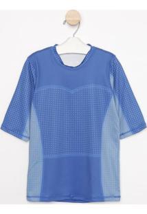 Camiseta Com Pespontos & Fpu 50+®- Azuluv Line