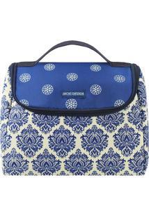Bolsa Térmica Geométrica - Azul Escuro & Off White -Jacki Design