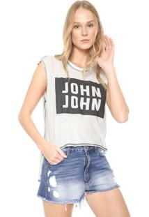 Regata John John Box Logo Off-White