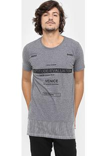 Camiseta Local Gola Careca Long Recorte - Masculino