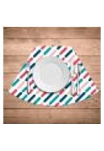 Jogo Americano Para Mesa Redonda Wevans Riscos Colorido Kit Com 4 Pçs