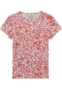 Blusa Vermelha Estampada Stretch Eco Vero