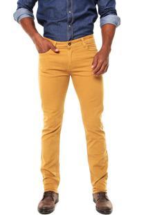 Calça Sarja Timberland Slim Fit Pockets Amarela