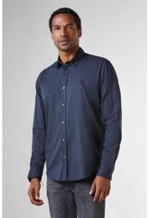 Camisa Reserva Regular Pois Maquineta Masculina - Masculino