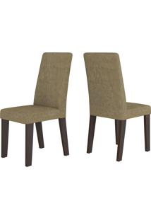 Cadeiras Kit 2 Cadeiras Nobre 14105 Ameixa/Neve - Viero Móveis
