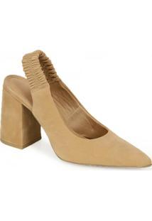 Sapato Scarpin Bico Fino Offline Nude