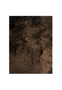 Tapete Quarto Sala Retangular Peludo Felpudo Marrom 1X1,50