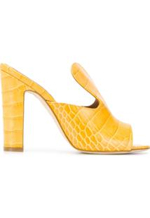 Paris Texas Sandália Slip-On Com Textura - Amarelo