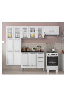 Cozinha Compacta Itatiaia Móveis Luce 3 Peças 10 Portas Branco Neve