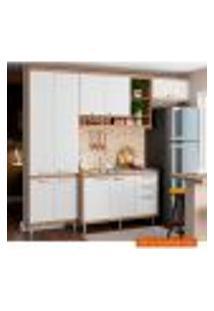 Cozinha Compacta Sicília Iii 9 Pt 3 Gv Argila E Branca