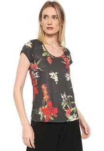 Camiseta Dimy Floral Verde