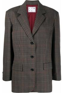 In The Mood For Love Blazer Xadrez Com Estampa Com Pied-De-Poule - Marrom