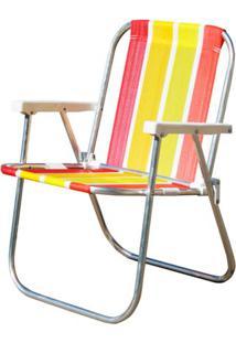 Cadeira De Praia Botafogo Varanda Alta Standart Alumínio