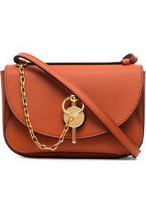Jw Anderson Brown Keyts Mini Leather Shoulder Bag - Laranja