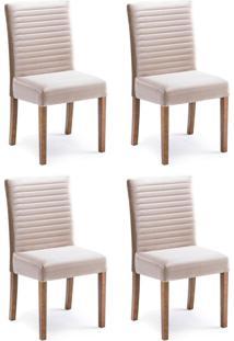 Conjunto Com 4 Cadeiras De Jantar Alba Caramelo E Imbuia