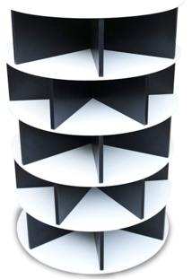 Sapateira Giratória Multidecor Luxo 1,05M Branca/Preta