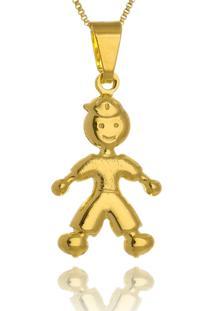 Colar Le Diamond Pingente Menino Dourado - Kanui