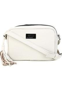 Bolsa Couro Santa Lolla Mini Bag Alça Transversal Floater Feminina - Feminino-Off White