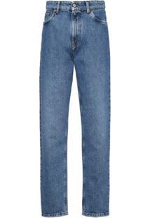 Miu Miu Calça Jeans Pantalona Kate - Azul