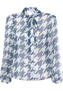 Camisa Feminina Transparência - Azul