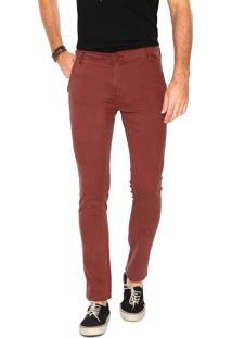 Calça Sarja Hang Loose Chino Color Vinho