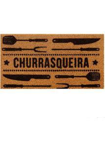 Capacho Churrasqueira 40X75Cm Pvc Bege Kapazi