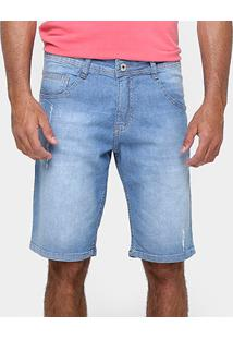 Bermuda Biotipo Clara Estonada Puidos - Masculino-Jeans