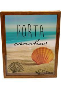 Quadro Decorativo Tabaco Porta Conchas Prolab Gift - Marrom - Dafiti