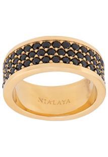 Nialaya Jewelry Anel Trio-Row - Dourado
