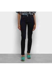 Calça Jeans Skinny Colcci Lavagem Escura Cintura Média Feminina - Feminino