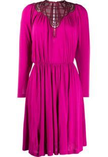 Alberta Ferretti Strappy Neckline Midi Dress - Rosa