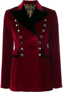 Dolce & Gabbana Blazer Militar - Vermelho