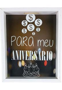 Quadro Cofre Madeira Decorativo Para O Meu Aniversário Art Frame
