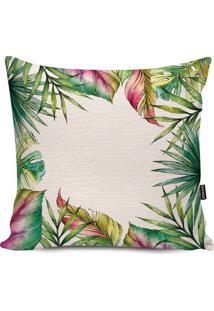 Capa Para Almofada Impermeável Tropical- Off White & Verstm Home