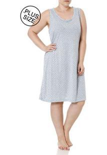 Camisola Plus Size Feminina Azul