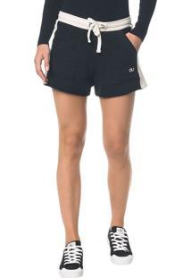 Shorts Ckj Fem Bicolor - Preto - Pp