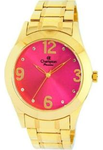 Relógio Champion Analógico Ch24268L Feminino - Feminino-Dourado