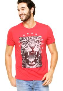 Camiseta Manga Curta Colcci Onça Vermelha