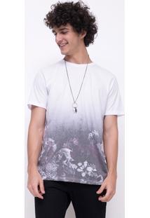 Camiseta Flowers And Skull