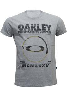 Camiseta Oakley Seeing Double Elipse Masculino - Masculino-Cinza
